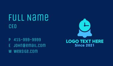 Notification Bell Clock Business Card