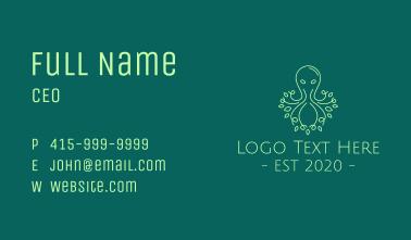 Green Nature Octopus  Business Card