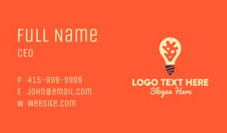 Virus Light Bulb Business Card