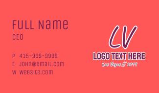 LV Las Vegas Business Card