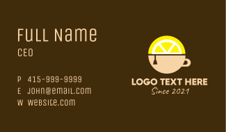 Lemon Tea Drink  Business Card