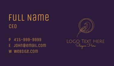 Elegant Gold Aviary Business Card