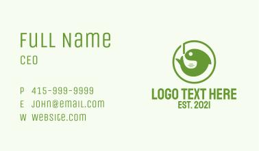 Green Fish Emblem  Business Card