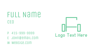 Green Sofa Lines Business Card