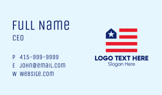 America Flag Realty  Business Card