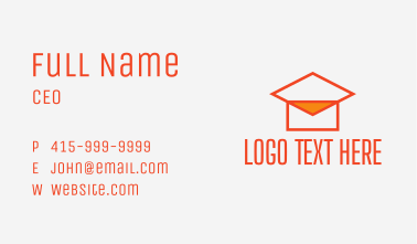 Online Class Email  Business Card