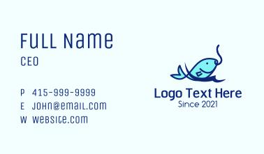 Sea Fish Hook Business Card