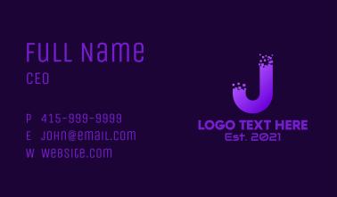 Pixel Letter J Business Card