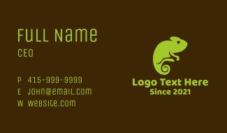 Nature Green Chameleon Business Card