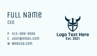 Viking Helmet Shield  Business Card