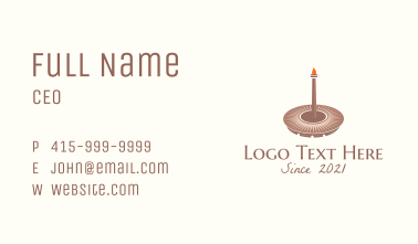 Olympic Torch Coliseum Business Card