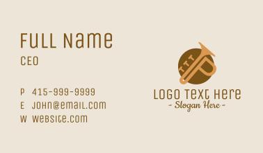 Trumpet Letter P Business Card