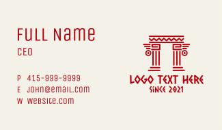 Tribal Mayan Pillar Business Card