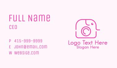 Pink Elephant Camera Business Card