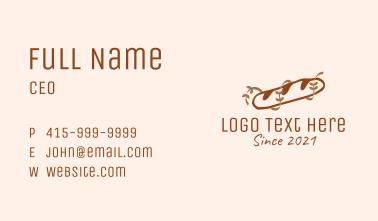 Brown Baguette Bread Business Card