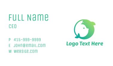 Green Rabbit Dolphin  Business Card
