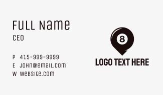 Billiard Location Pin Business Card