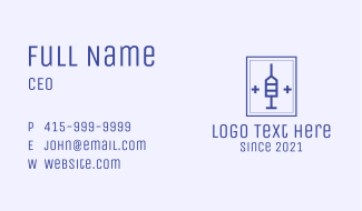 Medical Syringe Business Card