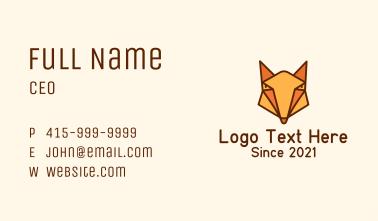Geometric Orange Fox Business Card
