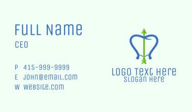 Dental Bow & Arrow Business Card