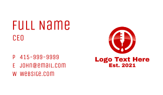 Blood Donation Business Card