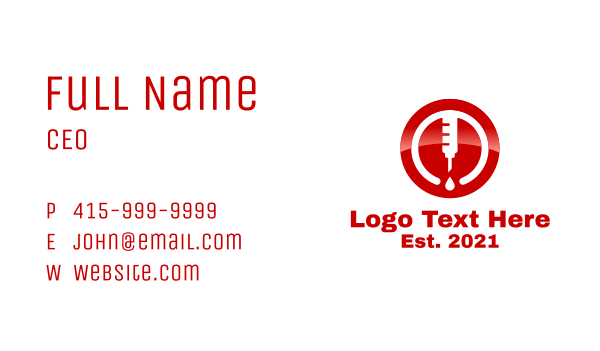 medical service - Blood Donation Business card horizontal design