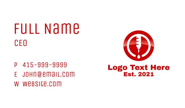 medical drug - Blood Donation Business card horizontal design