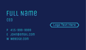 Gradient Tech Wordmark Business Card