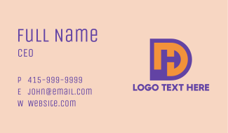 Purple DH Symbol Business Card