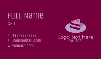 Birthday Cake Slice Business Card