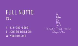 Minimalist Dance Performer Business Card