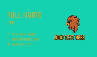 Brown Bird Mascot Business Card
