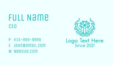 Tree Island Waves Business Card