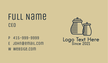 Minimalist Homeware Jars Business Card