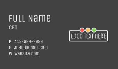Traffic Lights Wordmark Business Card