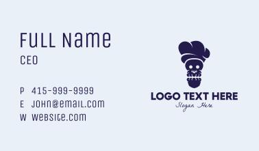 Black Skull Chef Business Card