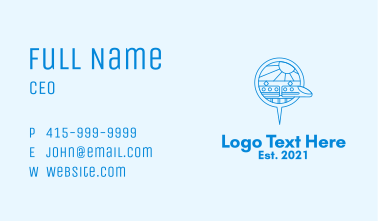 Bullet Train Location Pin Business Card