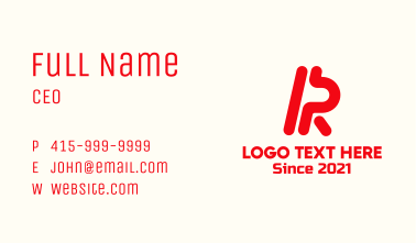 Letter R Enterprise Business Card