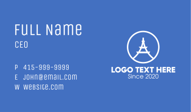 Eiffel Tower Letter A Business Card