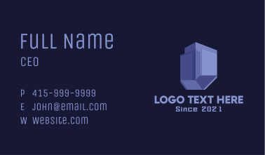 Purple Structure Real Estate Business Card
