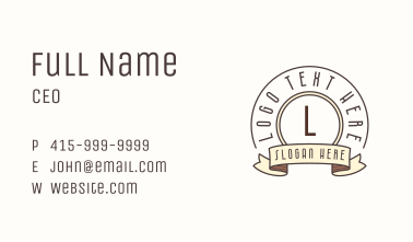Classic Banner Letter Business Card