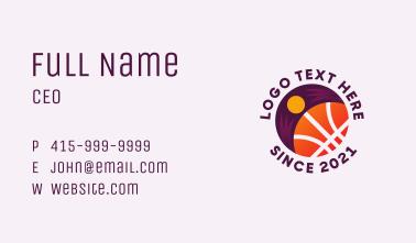 Abstract Turban Basketball Business Card