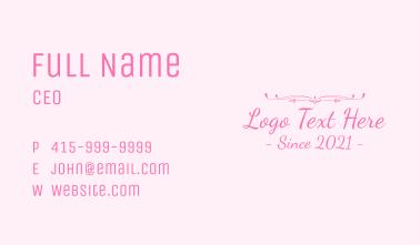 Feminine Luxury Wordmark Business Card