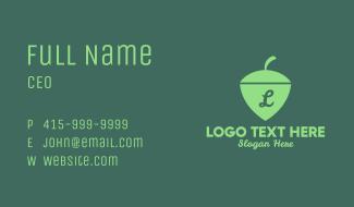 Nut Shield Lettermark Business Card