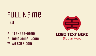 Oriental Traditional Symbol Business Card