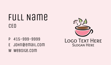 Healthy Coffee Cup Business Card