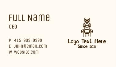 Owl Doodle Pillar Business Card