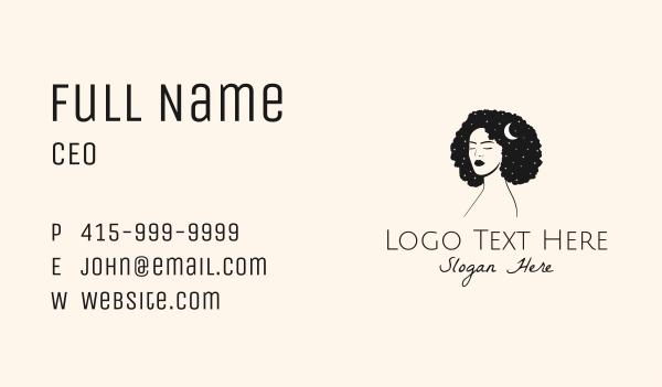 beauty vlogger - Pretty Woman Parlor Business card horizontal design