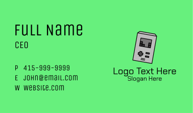 Gray Brick Game  Business Card