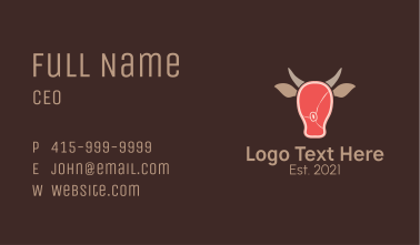Cattle Meat Business Card